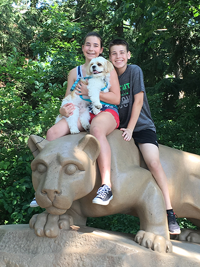 Bruce, Julia and the Nittany Lion